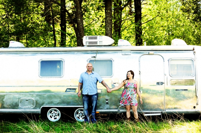 Liz & Rick did their shoot at their home in Belgrade. I was a liiiiittle bit excited when I noticed this Airstream. :)