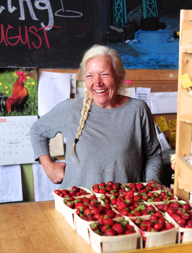 rosemont market, portland maine, rosemont market portland, cashier at rosemont market, local strawberries