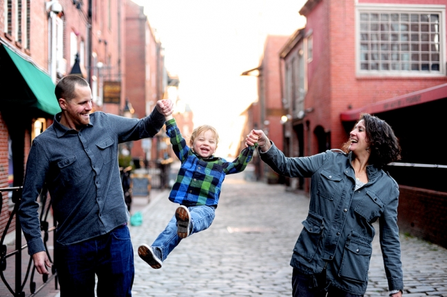 portland maine family session, maine family photographer, downtown portland, old port family session, candid family session