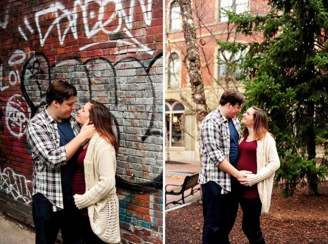 couple in alleyway with graffiti