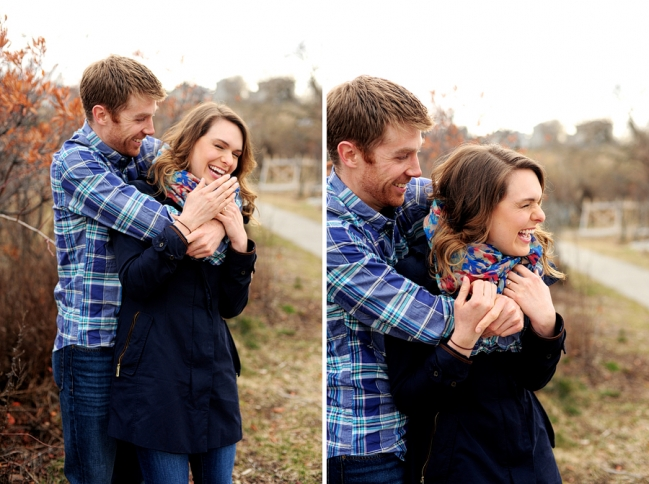 happy engagement photos in maine