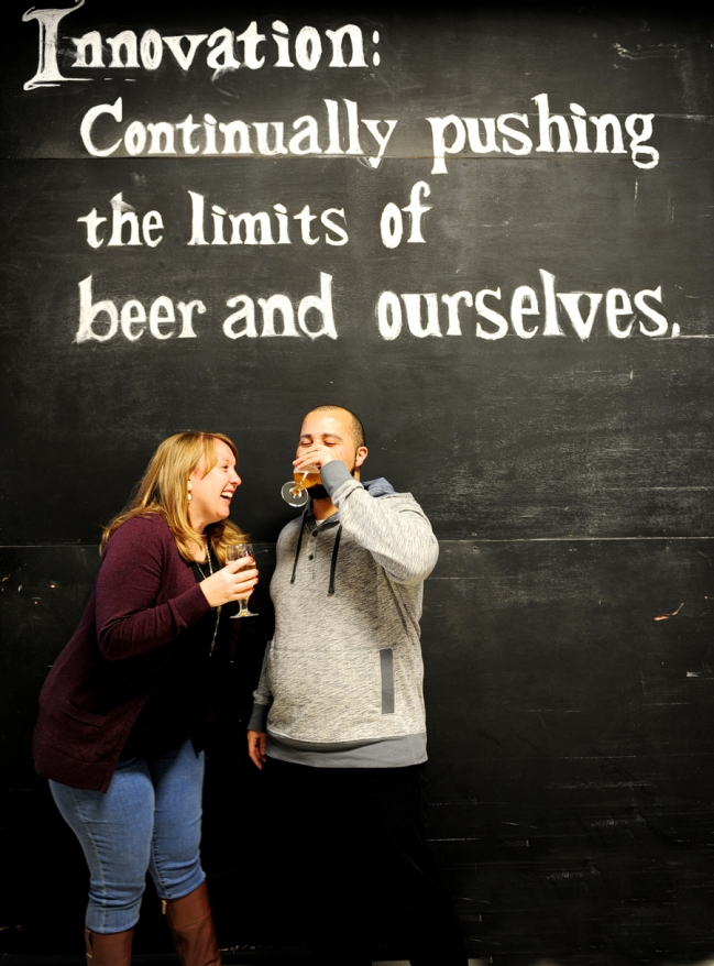 allagash brewing company engagement session